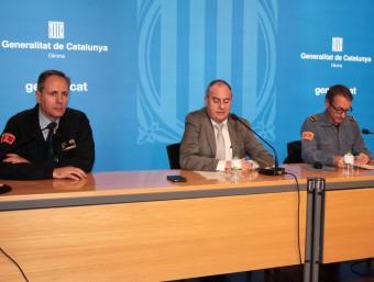 Vilardell, Ballesta i Cano en la presentació, ahir Foto:J. SABATER