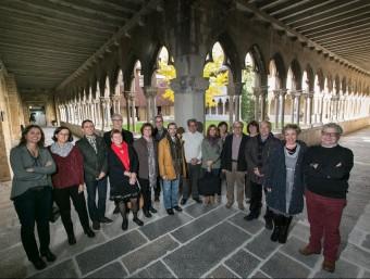 La trobada de degans i deganes de les facultats de lletres i humanitats, ara fa uns dies, al claustre de la UdG Foto:UDG