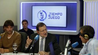 Mariano Rajoy dimecres en el programa de la COPE en què va participar. Foto:EFE