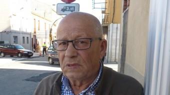 Joan Soler, ahir al carrer Panedes, davant la benzinera Foto:JOAN TRILLAS