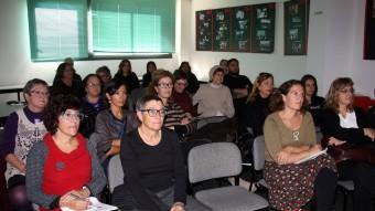 Alguns dels assistents ahir a la presentació del SIAD de CCOO a Girona. Foto:ACN
