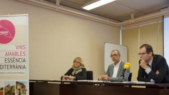 Presentació de l'estudi sobre el consum del vi, ahir, al campus Catalunya de la URV Foto:EL PUNT AVUI
