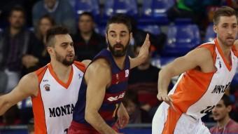 Navarro va arribar ahir a les 1.500 assistències en l'ACB. És el primer jugador que no és base que ho fa. Foto:EFE / TONI ALBIR