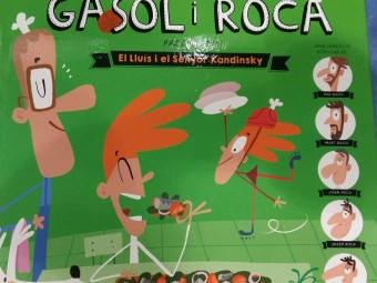La portada del llibre 'El Lluís i el Senyor Kandinsky', que es presenta demà a Girona.