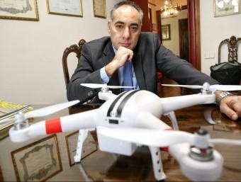 Ignasi Rubio és president d'Acepdron i manifesta que la indústria dels drons viu una època d'expansió que cal saber canalitzar disposant d'una regulació adequada.  Foto:ANDREU PUIG