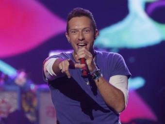 El cantant de Coldplay, durant una actuació al American Music Awards d'aquesta setmana Foto:REUTERS