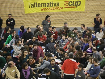 L'assemblea nacional de la CUP del 2013 que es va celebrar a Olot Foto:ARXIU / MANEL LLADÓ