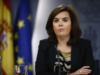 La vicepresidenta, durant una roda de premsa posterior al Consell de Ministres Foto:EUROPA PRESS