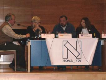 Els representants polítics en la tertúlia organitzada. Foto:Lola i Vicent