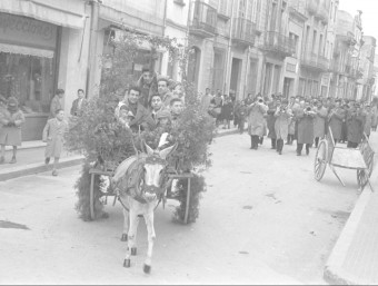 Sant Antoni Abad de l'any 1957. Una de les imatges del fons Antoni Poch de l'Arxiu Municipal de Malgrat Foto:FONS ANTONI POCH