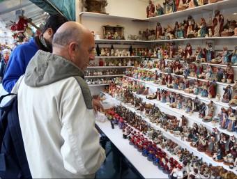 La fira de Santa Llúcia, que va obrir ahir Foto:Andreu Puig
