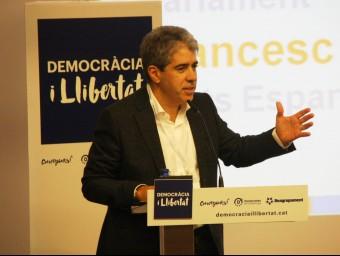 El cap de llista de Democràcia i Llibertat, Francesc Homs Foto:ACN
