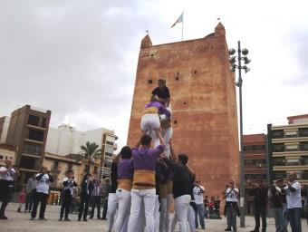 """La Muixeranga """"La Torrentina"""" en un acte anterior a la presentació oficial. Foto:ESCORCOLL"""