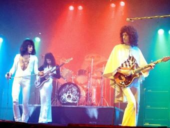 Queen, la nit de Nadal del 1975 al Hammersmith Odeon de Londres Foto:ARXIU