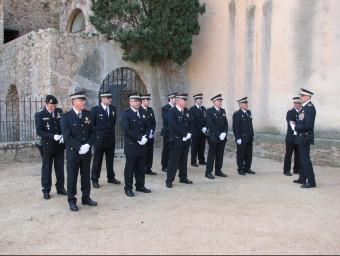 Efectius de la Policia Local de Sant Feliu, durant la darrera festa patronal Foto:Ò. PINILLA