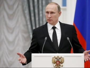 El president de Rússia, Vladímir Putin, en una imatge d'aquest dijous passat Foto:REUTERS