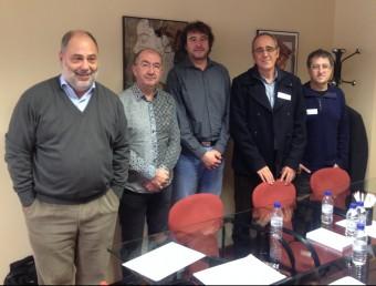 Reunió amb el director general de Política Lingüística i Gestió del Multilingüisme de la Generalitat Ruben Trenzano. Foto:EL PUNT AVUI
