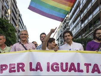 Pancarta d'obertura d ela manifestació del passat 29 de juny. Foto:AGÈNCIA EFE