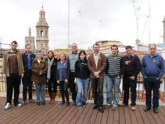 Reunió de l'Octubre dels col·lectius Enllaçats per la Llengua. Foto:EL PUNT AVUI