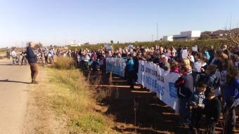 Aspecte de la manifestació contra els abocadors de Guadassuar. Foto:EL PUNT AVUI