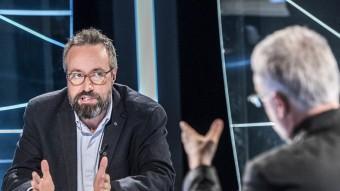 Juan Carlos Girauta, durant l'entrevista ahir a El Punt Avui Televisió amb el director, Xevi Xirgo Foto:JOSEP LOSADA