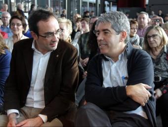 Josep Rull i Francesc Homs ahir durant la presentació del programa de Democràcia i Llibertat Foto:ACN