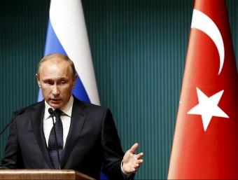 Vladimir Putin, president rus, en una roda de premsa al palau presidencial a Ankara (Turquia), el desembre del 2014 Foto:REUTERS