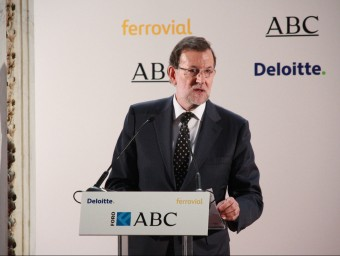 Conferència de Rajoy al Diari ABC de Madrid. Foto:ACN