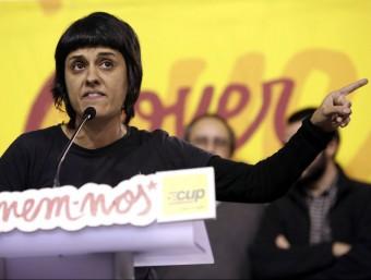 La diputada de la CUP Anna Gabriel, a la jornada de debat celebrada ahir a Manresa Foto:EFE