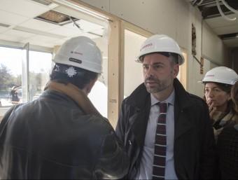 El conseller Santi Vila va visitar ahir les obres en curs Foto:JOAN CASTRO / ICONNA