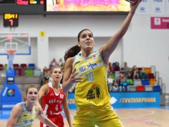 Marta Xargay, contra l'Agü Spor Foto:LUDEK ŠIPLA / USK PRAGA