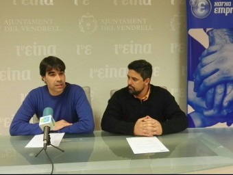 El regidor d'Emprenedoria, Ferran Trillas, i el portaveu de la Unitat de Gestió de la Xarxa Emprenedora, Paulo Vedoya Foto:Ajuntament del Vendrell