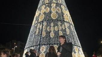 Encesa oficial dels llums de Nadal a la plaça Catalunya Foto:GLÒRIA SÁNCHEZ / ICONNA