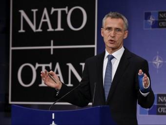 Jens Stoltenberg, secretari general de l'OTAN, ahir a Brussel·les Foto:JOHN THYS / AFP