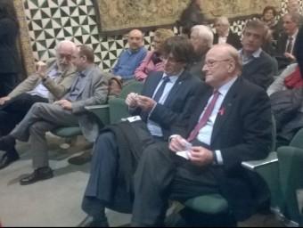 Vilajoana i Puigdemont, entre les personalitats assistents a l'acte Foto:Ò.P.J