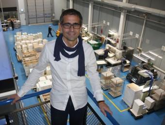 Albert Majós Cullell, director general de Maculart a la planta de l'empresa a Cerdanyola.  Foto:FRANCESC MUÑOZ