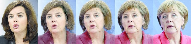 Soraya Sáenz de Santamaría i Angela Merkel