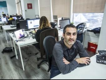 Francesc Font a la seu de la companyia de Barcelona.  Foto:JOSEP LOSADA