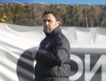 Sergio González seriós e n l'entrenament d'ahir. Foto:FERRAN CASALS