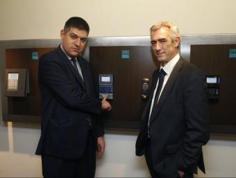 Daniel Parés, director general d'Spec i el soci Philippe Montagut, cap d'operacions d'Octime.  Foto:ORIOL DURAN