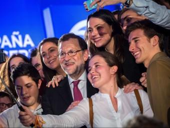 Mariano Rajoy, guanyador de les eleccions espanyoles del 20 de desembre passat, en un miting de campanya.  Foto:AFP PHOTO / GABRIEL GALLO