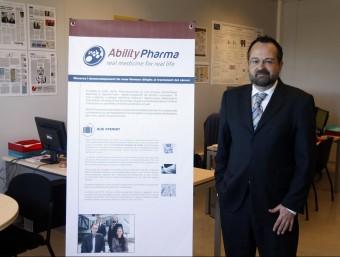 El cofundador d'Ability Pharmaceuticals, Carles Domènech.  Foto:ORIOL DURAN