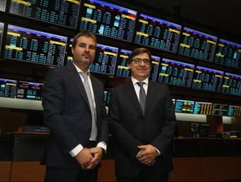 Manel Mauri i Carlos Soler han portat la companyia al mercat alternatiu per a pimes, el MAB.  Foto:ORIOL DURÁN