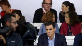 El secretari general del PSOE, Pedro Sánchez, ahir al comitè federal del PSOE Foto:REUTERS