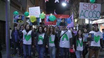 Manifestació de denúncia del cas de l'Alan, el noi que es va suicidir a Rubí Foto:ACN