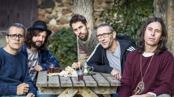 Showarma i els Falafels, amb Jacob Serradesanferm i Martí Vilardebò a la dreta Foto:JOAN TEIXIDÓ