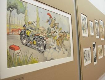 Dibuixos de l'exposició antològica de Batllori Jofré que es va poder veure durant el 2015 a Teià. Foto:REBECA MARTÍN