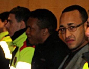 Rolando Mercedes, durant un judici que es va celebrar el febrer del 2013 per un assalt violent en un bordell de Girona. Per aquest cas, li demanaven 15 anys de presó i va sortir absolt Foto:ACN