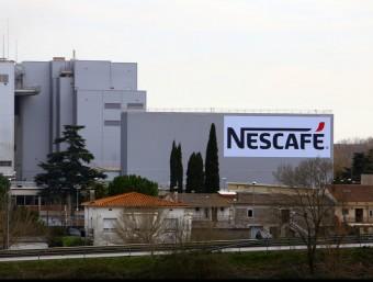 La fàbrica Nescafé que la multinacional té a Girona. Foto:MANEL LLADÓ