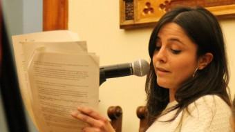 Maria Sirvent intervenint al ple de gener Foto:J.A